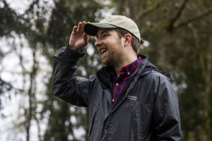 Picture shows Patrick Shults is the new WSU Extension Forester in Southwest Washington, focusing on the Chehalis River Basin.